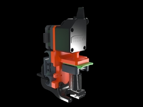 Hypercube Evolution Mount for Bondtech BMG Direct Extruder and Orion Piezo with E3d V6