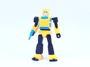 ARTICULATED G1 TRANSFORMERS BUMBLEBEE - NO SUPPORTS