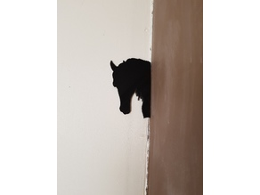 shadow of a horse and a dog
