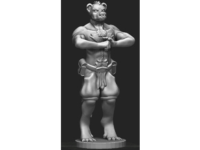 Gnoll Monk Miniature