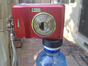 Water Bottle Camera Stand, with Centered Lug