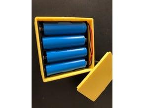 Batterybox for 4x 18650 holder
