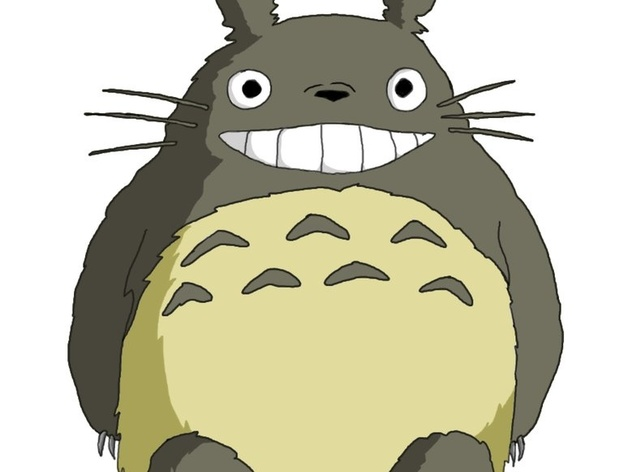 Smiling Totoro by KFINCH