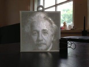 Albert Einstein Lithopane
