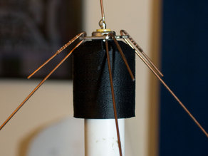 mount for low-cost 2m ground plane antenna