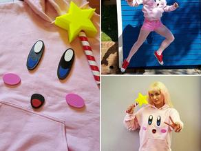 Kirby Face Costume and Star Rod Wand!