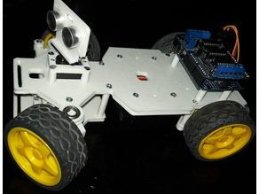 4WD RC Smart Car Chassis for Arduino (or ESP) - Ultrasonic Remix
