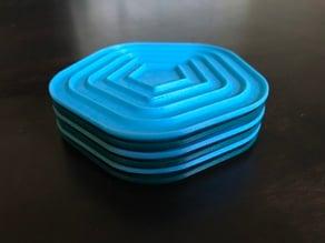 Stacking No-Stick Coasters