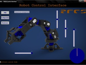 ARCS: software to drive 3dprinted/arduino controlled robotic arms.