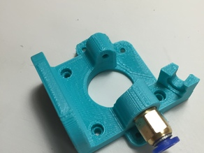"Bowden extruder for 1.75mm filament and 1/8"" push fit coupling (used for 4mm OD tubing)"