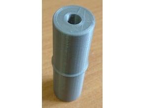 Coupler for 25mm furniture bars (pipes) and crossbar flange holder