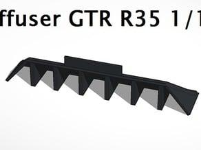 Diffuser GTR R35 1/10 Drift car