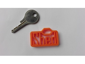 Shed Key Tag