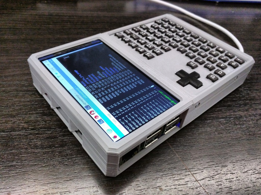HyperPixel 4 & Raspberry Pi 3 B+ Handheld by anthonysavatar