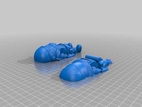 Cute Stormtrooper cut for easier printing