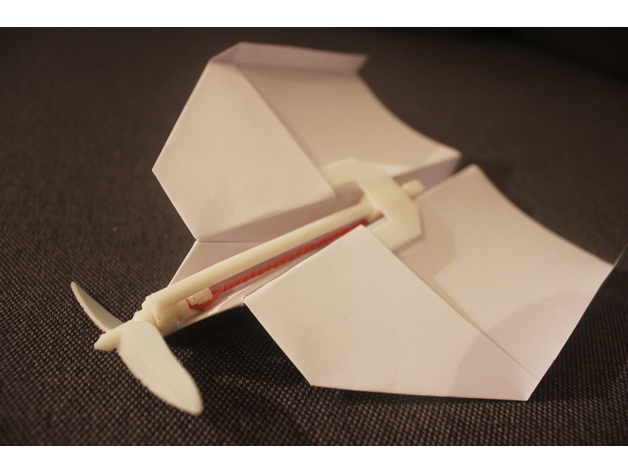 Paper Airplane Rubberband Motor By Viralvideolab Thingiverse
