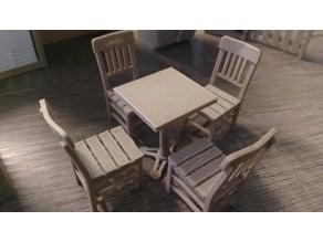 Cafe table / masa 60x60-diorama