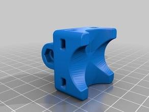 Gopro mount for 22mm tube U and V orientation