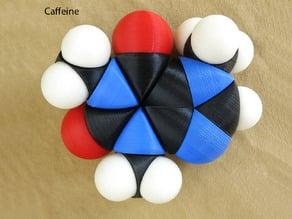 Space-filling molecular models:  Caffeine Adventure Set
