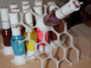 Nail polish bottle holder