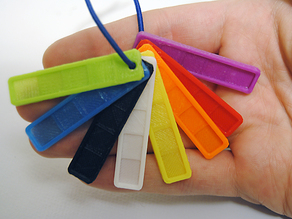 Filament Color Swatch Keychain