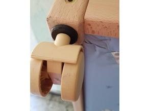 Wooden Playpen wheel mount / Laufgitter Rollenbefestigung