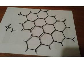 Hexagonal tile spacers 40 pcs