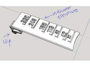 Filament length indicator+clip