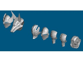 Dominion Crusader heads/masks (28mm) MK3