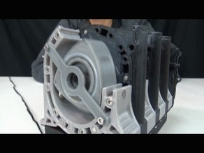 4rotor Wankel Rotary Engine  Working Model