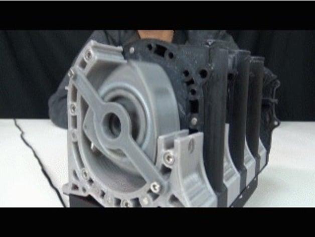 4rotor Wankel Rotary Engine Working Model by shunya0413