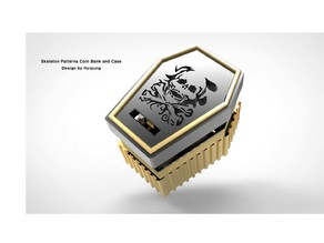 Skeleton patterns Coin Bank and Case
