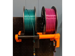 Multi-spool holder for Wall Control Peg board and Prusa MK2.5/MK3 MMU 2.0