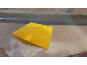 Cube cut into three identical polyhedra