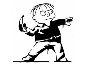 Ralph Wiggum stencil