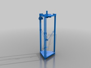 RichRap's 3DR - Modified for 8mm Rod and 20mm Box section (Squared Wood, Extruded Aluminium or Box Section Steel)