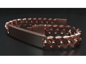 Gourmette curb link chain