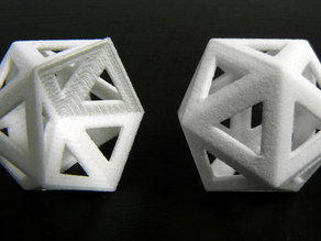 Dented icosahedron and icosahedron