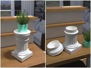 Doric Pedestal Container