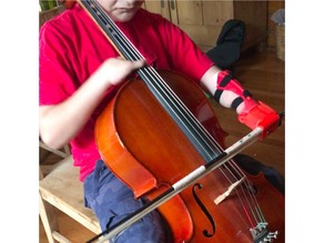 Enable unlimbited gauntlet with Cello bow holding attachment