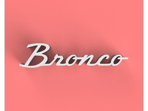 Bronco Classic Badge