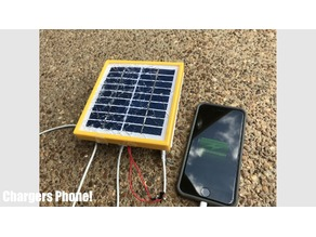 Solar Panel and Battery Holder to Charge your Phone!