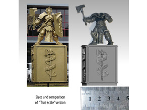 Pedestal from the statue of Games Workshop HQ