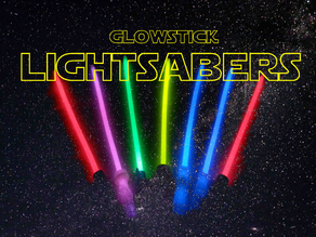 Lightsabers with glow sticks