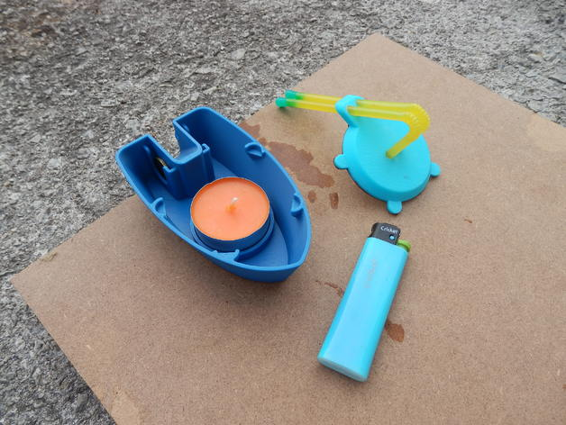 3D printed boat Pop Pop