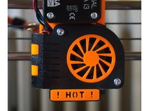 Prusa i3 MK2 Extruder - Swinging part-fan