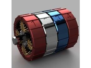 20:1 & 20:-1 Compound Planetary Scissor Gearbox