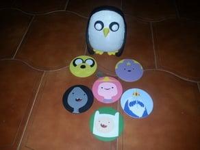 Gunter + Adventure Time coasters