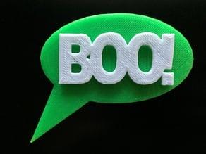 Boo! Speech Balloon