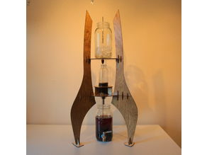 Spaceship Themed Cold Drip Coffee Tower
